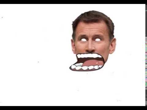 Jeremy Hunt vomits on Slimed Sally