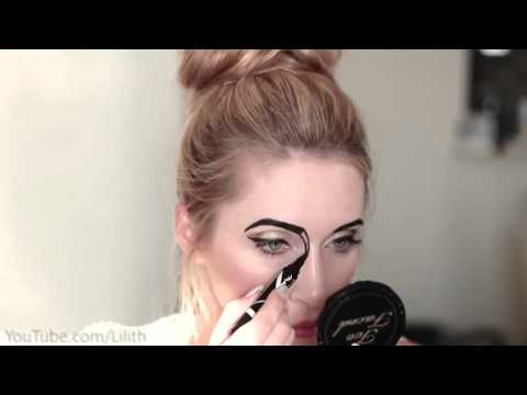 Halloween makeup tutorial ❤ Lace mask, golden eyes, red lips DIY