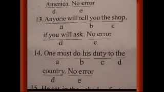 Finding Common Errors (English Grammar) Part-3 (SSC CGL,Banking,Delhi Police,Air Force,CDS) 2015