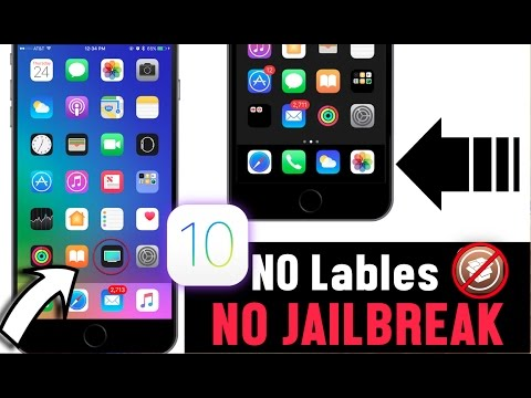 How to Remove icon labels iPhone Hacks No Jailbreak iOS 10 /10 2