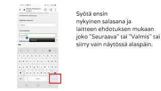 Pratsam Reader  -sovelluksen salasanan vaihtaminen Android-laitteella