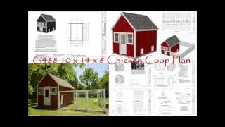 G488 10 X 14 X 8 Chicken Coop Plan -- Chicken Coop Plan -- Build Chicken Coop