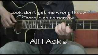 Adele - All I Ask (Acoustic Guitar Karaoke)