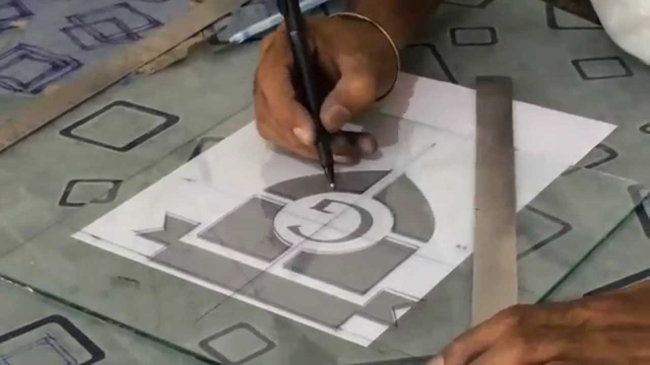 Etching glass using Sandblasting technique