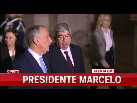 Veja a chegada de Marcelo à Assembleia da República