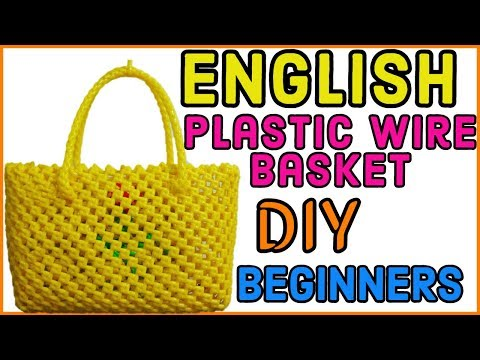 English-Mini Plastic wire basket Tutorial for beginners |How to Make Wire bag| Indian Basket DIY