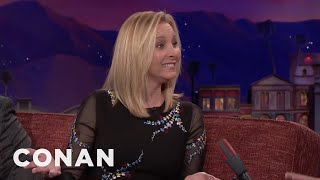 "Lisa Kudrow Reviews The Latest Fake ""Friends"" Movie Trailer  - CONAN on TBS"