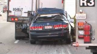 Honda Accord Rear-Ends Semi Truck, Driver Dies, Alpine