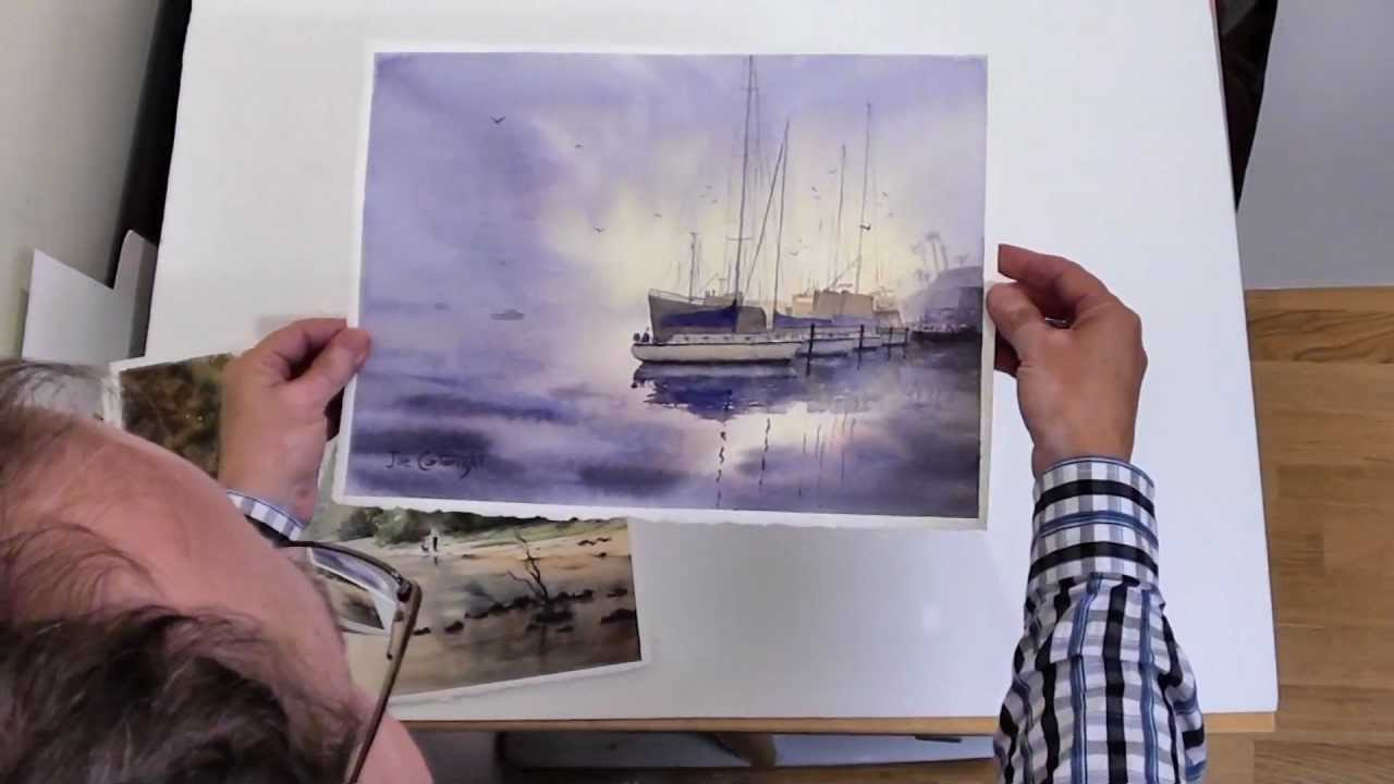 How to flatten watercolor paintings - YouTube