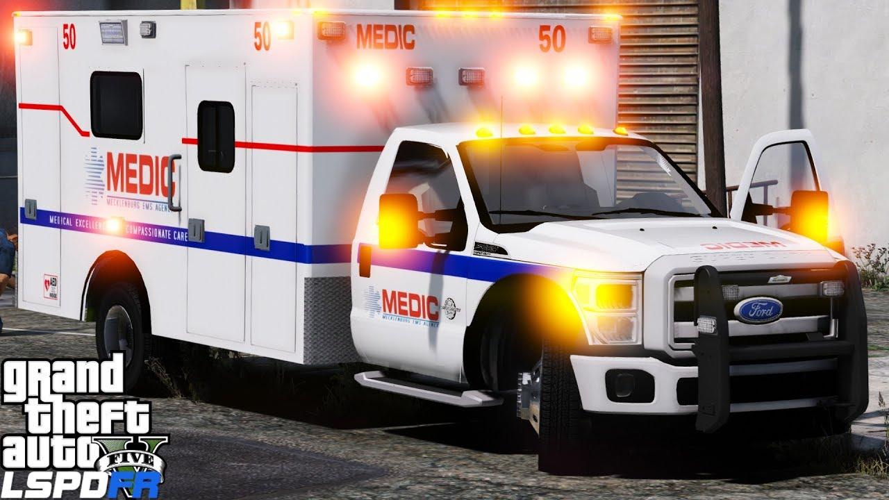 GTA 5 LSPDFR EMS Mod #15 | Play As A Paramedic Mod | Mecklenburg Emergency  Medical Services