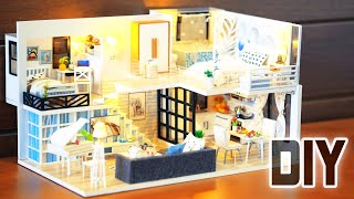 DIY Miniature Dollhouse Kit || Shine Your Way ( With Two Bedroom )