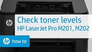 Checking Toner Levels - HP LaserJet Pro MFP M201 and M202 Printer Series | HP LaserJet | HP