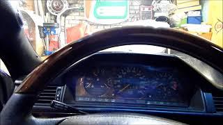 снятие щитка приборов \ приборной панели на мерседес W124