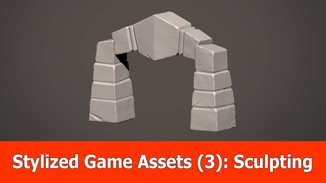 Stylized Game Assets (3) : High Poly Sculpting ZBrush