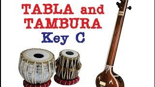 TABLA and TANPURA for Hindustani and Carnatic Music key C Tabla Japtal Vilambit 30