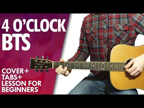 BTS RM & V '네시 (4 O'CLOCK) guitar lesson and tab