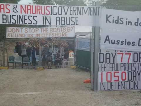 Police on Nauru Arrest Protest Organiser