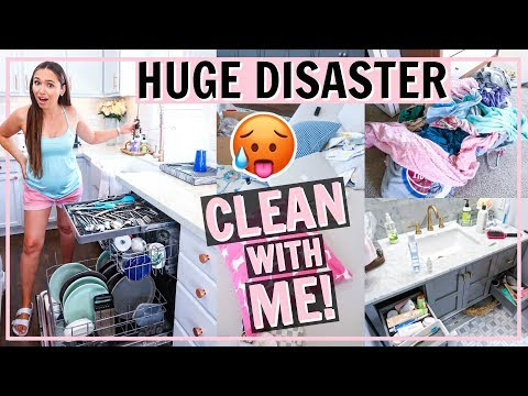 🤯HUGE DISASTER CLEAN WITH ME! ULTIMATE INTENSE ALL DAY CLEAN MY HOUSE WITH ME! | Alexandra Beuter