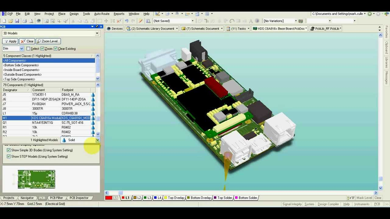 Altium Designer - 3D model of your PCB - it\'s really easy - YouTube