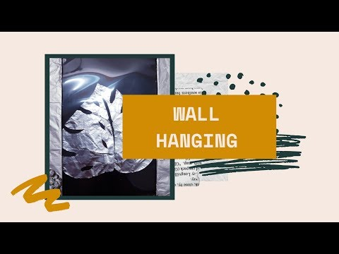 Easy wall hanging using paper/ DIY with foil paper
