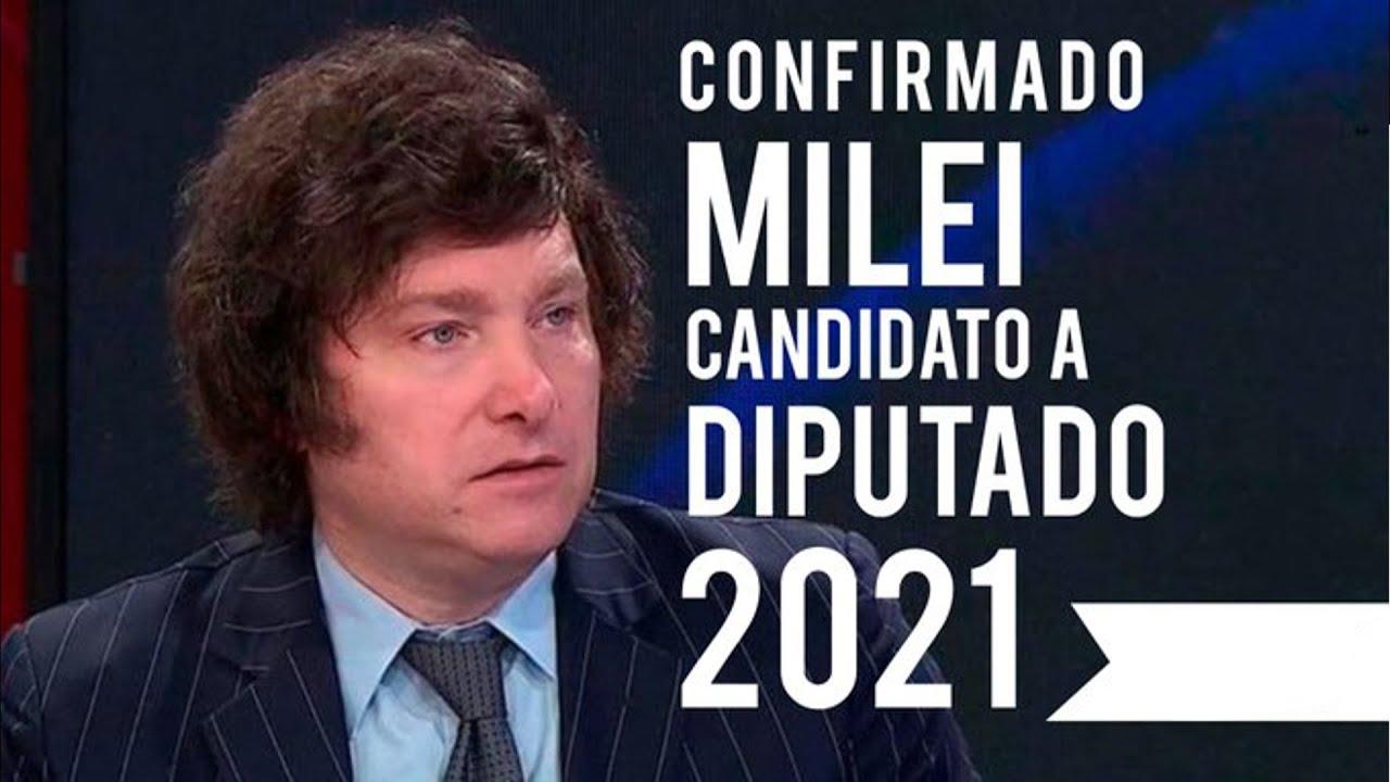 CONFIRMADO: Milei será candidato a diputado en 2021 junto a Espert-26/09/20