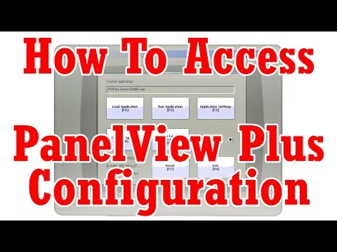 How do I access the PanelView Plus Configuration Menu? - The
