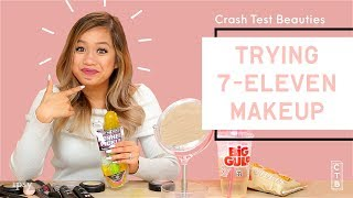 We Tested A Full Face of 7-Eleven Makeup | Crash Test Beauties