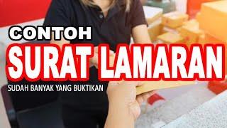 Mantul Contoh Surat Lamaran Kerja Yang Sering Dipakai / 100% Auto Kerja