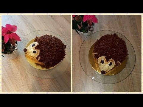 Niedliche Igel Torte Ohne Fondant/Herbst-Torte /Cute Hedgehog Cake Without Fondant