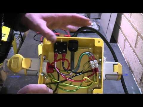 A look inside a 240v to 110v stepdown isolating transformer.