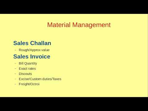 ABC of ERP in Hindi - Material Management