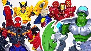 Marvel Avengers Electronic Hulk, Spider Man, Iron Man Transform! Defeat Dinosaur! #DuDuPopTOY