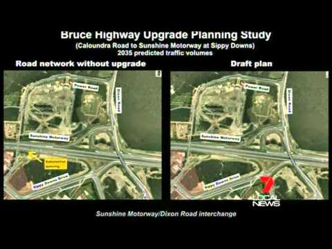 on\off ramp closures at Sippy Downs