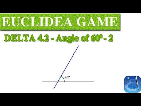 Euclidea 4.2 (Delta 2) Angle of 60 - 2   Online Courses   Math Games   Math Garden 🌟🌟🌟🌟