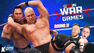 WarGames 2020 Round 3 (Attitude Era Battle Royal!) in WWE 2k20! K-CITY GAMING