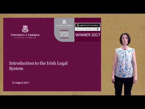 Lecture 1 The Irish legal system