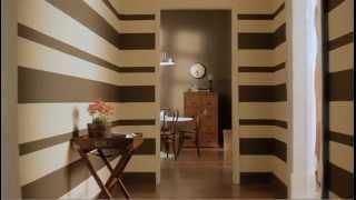 Cómo pintar una pared con rayas horizontales.
