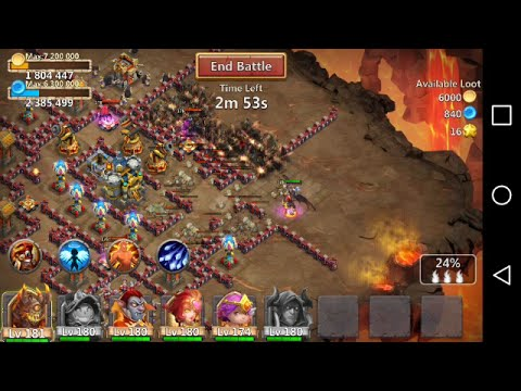 GRIMFIEND (ABSOLUTE BEAST) IN ACTION-CASTLE CLASH