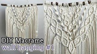 Diy Macrame Tutorial Beginner Wall Hanging Diamond With