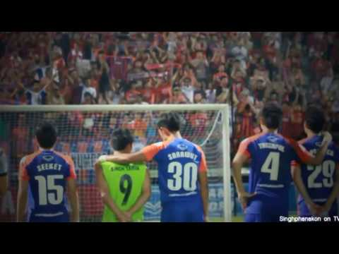 "Thai Port F.C. Song 1 with karaoke Thai  ""Rao Kue Singh"""