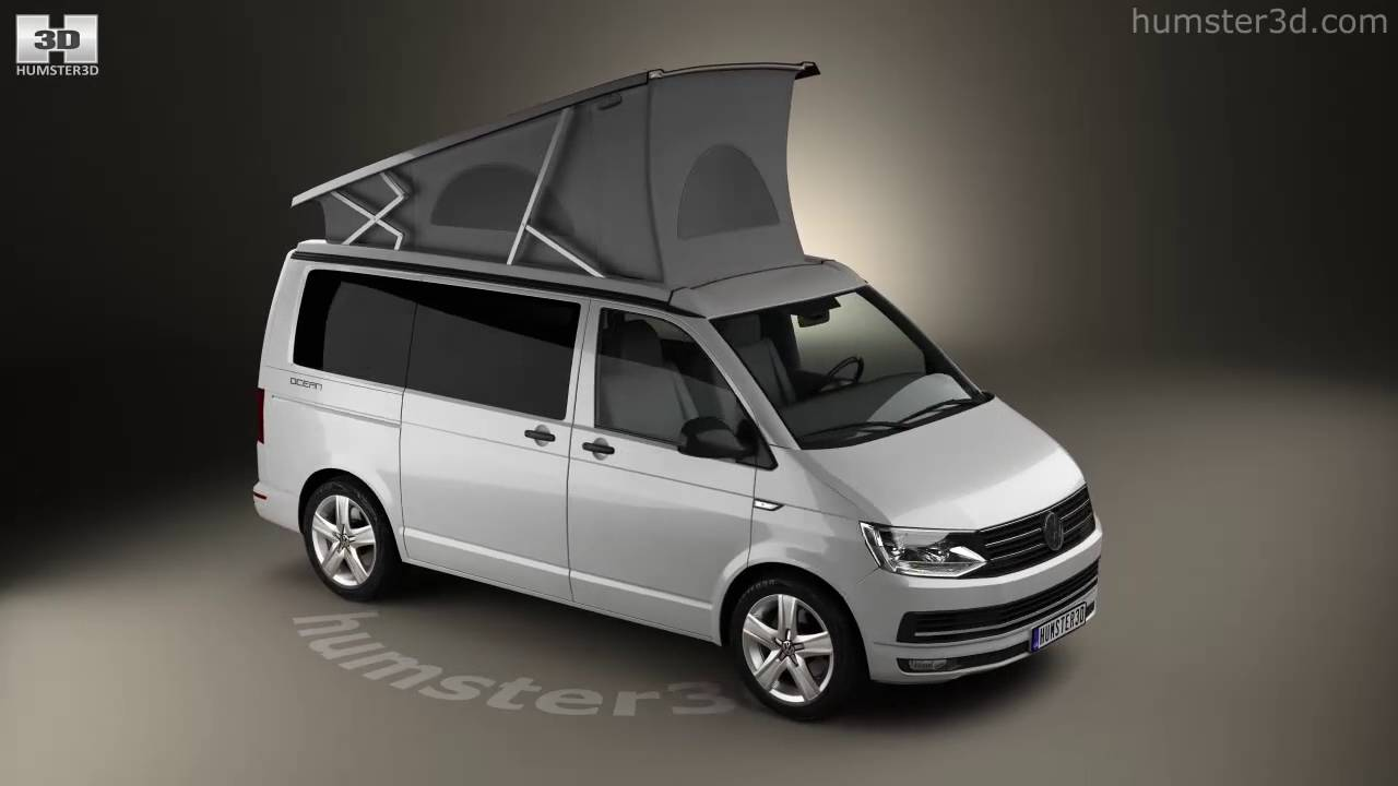volkswagen transporter t6 california 2016 3d model by youtube. Black Bedroom Furniture Sets. Home Design Ideas
