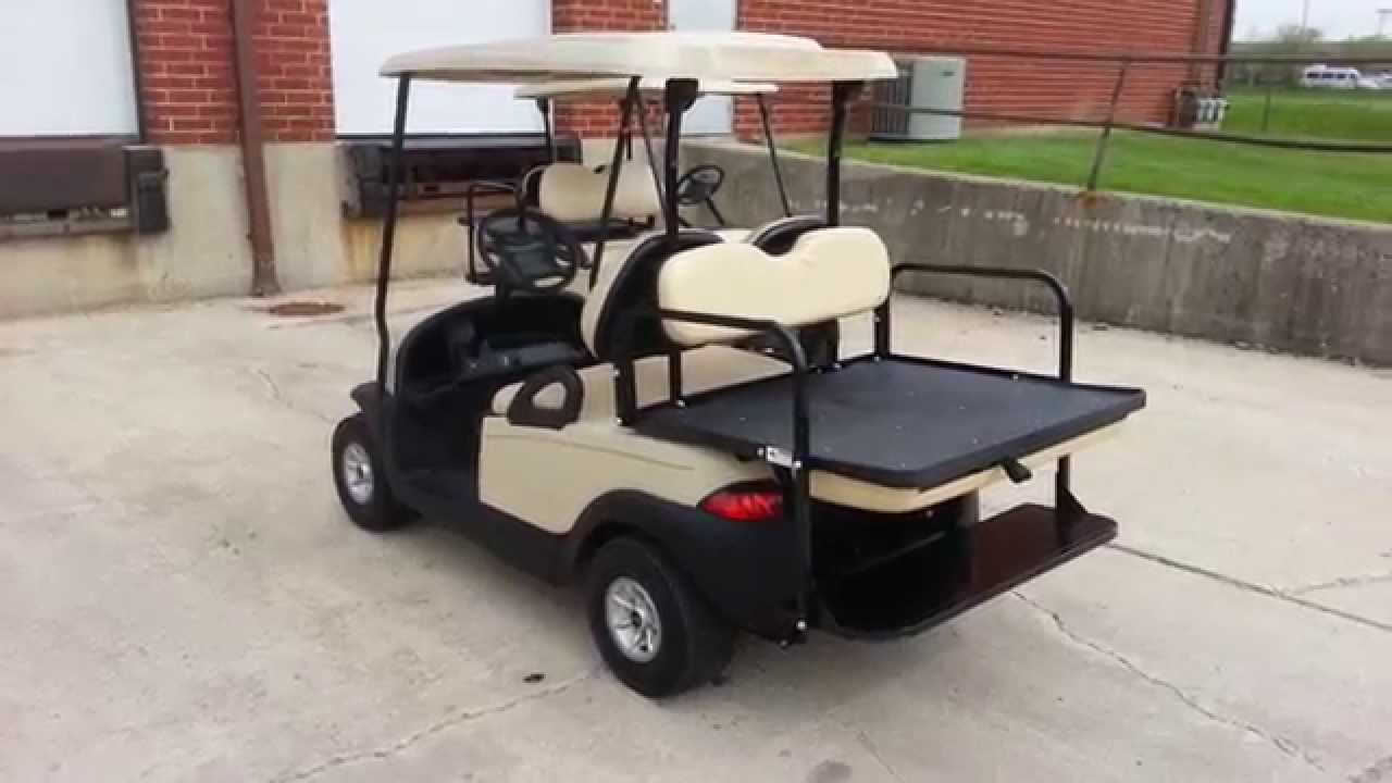 Club Car Precedent Golf Cart From Michigan With Rear Flip Seat Lights 2012 Trojan T1275 Batteries