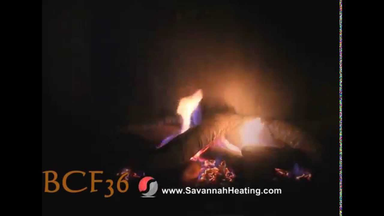 bcf36 log set flame video gas fireplace youtube
