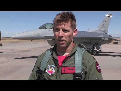Colorado Air National Guard F-16s Test Arresting Cable at Denver Int'l Airport