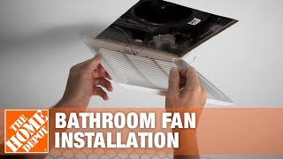How To Install A Bathroom Fan Bathroom Fan Replacement The Home Depot Youtube
