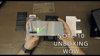 Note 10 + unboxing early and Clear view case! Is this the best ever?