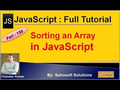 Sorting an array in JavaScript | JavaScript Full Tutorial in Hindi thumbnail