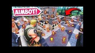 Reaction to AIMBOT HACKER in Fortnite Battle Royale !! 🔥😱