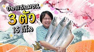 ฉลองเดือนใหม่ด้วย ปลาแซลมอน 3 ตัว 16 กิโลกรัม !!