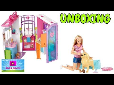 Unboxing 'Studio veterinario'+'Barbie cuccioli appena nati'